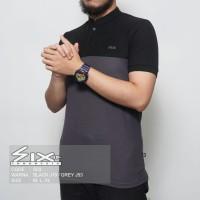 Kaos Polo SIX Shirt Polos / Kaos Kerah Terlaris