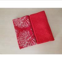 bahan kebaya/kain batik embos/seragam nikah/kebaya kutu baru/merah