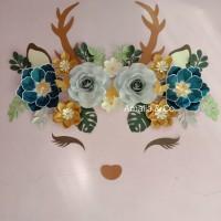 Amalia & Co. | Paper flower unicorn/ dekorasi Kamar / backdrop/ rusa
