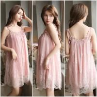 Sexy Lingerie Murah Baju Tidur Wanita TA0636 Krem bisa untuk Big Size