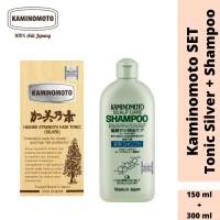 Bundling Kaminomoto Hair Tonic Silver 150 ml & Shampoo 300 ml