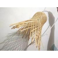 kap lampu krongso bambu tradisional