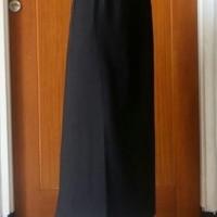 rok bahan pola A pinggang karet rok kantor rok kerja rok formal - Hitam, S