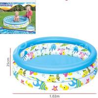 Bestway 51008 Kolam Renang Anak Ocean Pool [Uk. 1,02m x 25cm] + POMPA