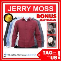 Kemeja Polos Pria Premium - Lengan Panjang (TagUs JerryMoss) - All, M