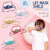 Masker Anak 3 lapis Non medis dgn Pelindung Muka Life Mask Shield JW