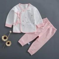 Pakaian Bayi Unisex Set bayi kimono Baju Bahan katun 0-3 Bulan v17