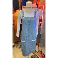 Baju dress kodok rok pendek jeans
