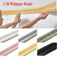 Wallpaper Dinding List Profil Foam 3d Border Frame Bingkai Dekorasi
