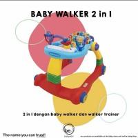BABYELLE BE0188 2in1 Baby Walker / Alat Bantu Jalan Bayi - Merah