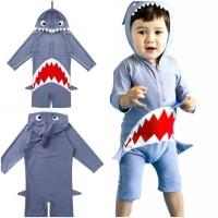 Baju Renang Anak Cowok Shark Swimsuit Anak Ikan Hiu Motif Baby Shark
