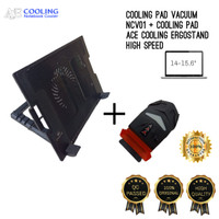 cooling pad Ace cooling ergostand 9-15,6 & coolingpad vacuum NCV001