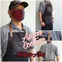 Apron EcoTwo Drill Synthetic Leather Celemek Barista Chef n Barberman