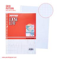 Kertas Binder File Loose Leaf JOYKO B5 isi 50 Grid Kotak Kecil 26 Ring