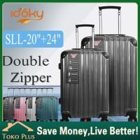 Idoky murah 20 24inch tas koper baju traveling wanita bagasi luggage