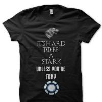 Kaos 3365 Tony Stark Game Of Thrones T-Shirt