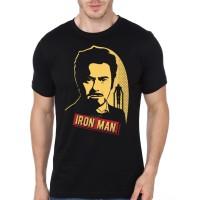 Kaos 2408 The Iron Man Tony Stark Black T-Shirt