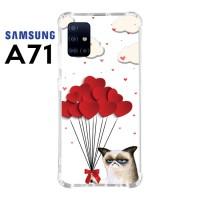 Casing Custom Samsung A71 Softcase Anticrack Motif Kucing Lucu 18