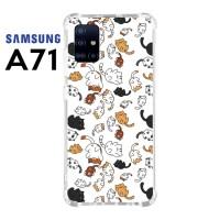 Casing Custom Samsung A71 Softcase Anticrack Motif Kucing Lucu 30