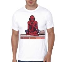 Kaos 3333 Spiderman Homecoming White T-Shirt