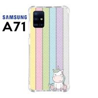 Casing Custom Samsung A71 Softcase Anticrack Motif Lucu Unicorn