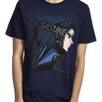 Kaos 4558 Sasuke Uchiha Navy Blue T-Shirt