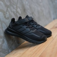 Sepatu Anak Original Adidas Runfalcon All Black Velkro Perekat