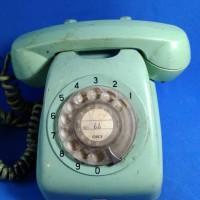 telepon putar copotan dr kapal jadul vintage antik lawas kuno rare lan