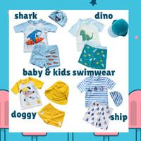 SW1918 - Setelan Baju Celana Renang Swimsuit Anak Bayi Balita Cowok