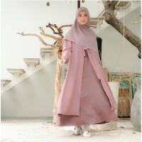 Baju muslim wanita gamis dress maxi mufida size S M L XL moscrepe