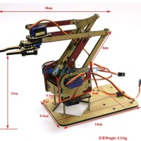 Sg90 Mg90s Servo Arduino ROBOT ARM CLAMP CLAW MOUNT penjepit