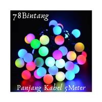 78 Lampu Hias Natal LED 5meter / Lampu Tumblr Anggur