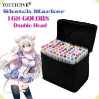 Touchfive 168 Colors Twin Marker Brush Pen Copic Spidol Sketch Draw