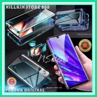 SAMSUNG GALAXY A50 A505 MAGNETIC GLASS CASE FRONT BACK HARD TEMPERED