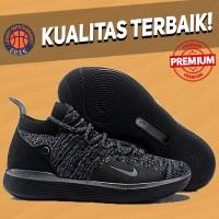 Sepatu Basket Sneakers Nike KD 11 Triple Black Pria Wanita