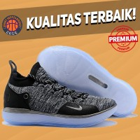 Sepatu Basket Sneakers Nike KD 11 Still KD Oreo Black Pria Wanita