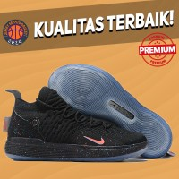 Sepatu Basket Sneakers Nike KD 11 Just Do It Black Pink Pria Wanita