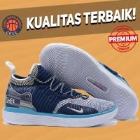 Sepatu Basket Sneakers Nike KD 11 BHM Blue Navy White Pria Wanita