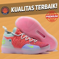 Sepatu Basket Sneakers Nike KD 11 EYBL Pink Pria Wanita