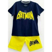 1-6T Setelan baju kaos anak Karakter Laki laki Batman Navi