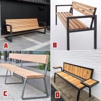 Bangku taman // Bench murah // kursi besi kayu panjang