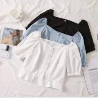 sabrina polos atasan baju wanita bluss korea anak anak remaja