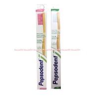 Pepsodent Natural Bamboo Sikat Gigi Dengan Pegangan Kayu Bambu