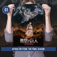 Poster Anime Shingeki no Kyojin Lengkap Size A3 - Attack on Titan