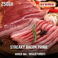 AROMA Pork Streaky Bacon 250gr 1/4kg Babi Asap Smoked Pork Belly