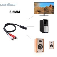 Cou Female Stereo 3.5mm to 2-RCA Male Plug Aux Audio Adapter