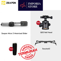 Camera Slider Zeapon Micro 2 Motorized + Easy Lock 2 + Free Ball Head