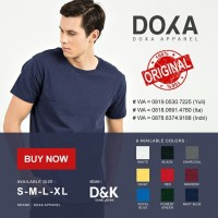 Kaos Polos Doxa Apparel Softstyle Original Warna ( S M L XL )
