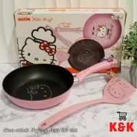 Frying Pan Teflon 22cm Hello Kitty (Export Quality)