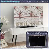 cover tv, bando tv, tutup tv LED/LCD motif Shabby Crem